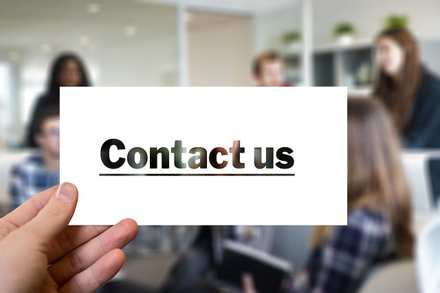 Sign that says contact us